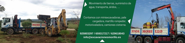 maquinaria para excavaciones y movimientos de tierras en toledo